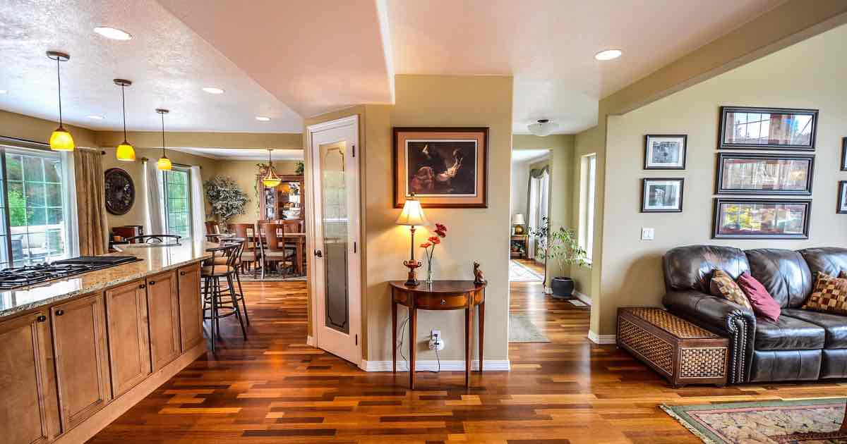 sharp hardwood floors family room